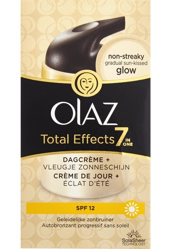 Olaz Total Effects 7-In-1 Hydraterende Dagcrème Zelfbruiner SPF12 50ml