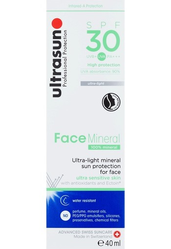 Ultrasun Face Sensitive Skin Mineral SPF30 40 ml