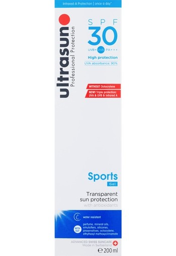 Ultrasun Body Normal Skin Sports Gel SPF30 200 ml