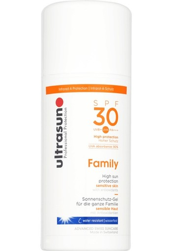 Ultrasun Body Sensitive Skin Family SPF30 100 ml