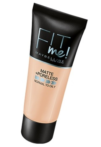 MAYBELLINE FIT ME MATTE AND PORELESS FOUNDATION 105 NATURAL IVOR