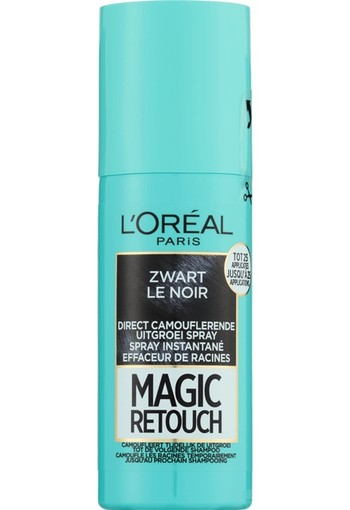 L'Oréal Paris Magic Retouch Uitgroei Camouflage Spray 1 Zwart 75 ml
