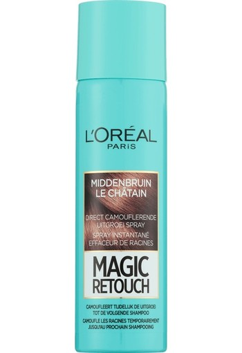 L'Oréal Paris Magic Retouch Uitgroei Camouflage Spray 3 Middenbruin 150 ml