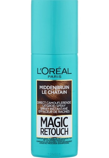 L'Oréal Paris Magic Retouch Uitgroei Camouflage Spray 3 Middenbruin 75 ml