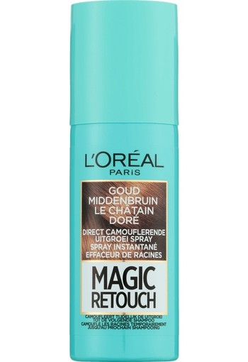 L'Oréal Paris Magic Retouch Uitgroei Camouflage Spray 10 Goud Middenbruin 75 ml