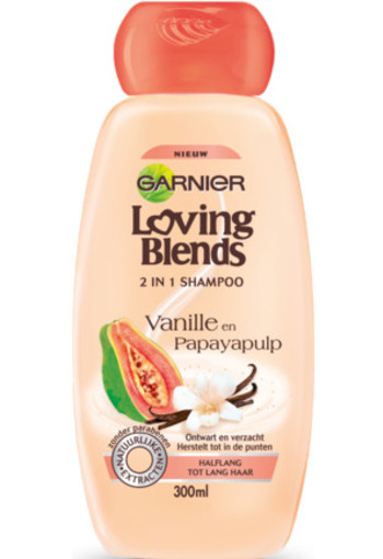 Garnier Loving Blends Shampoo Papaya Vanille 300ml
