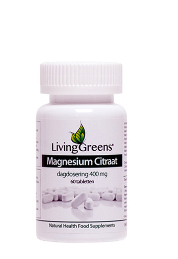Livinggreens Magnesium citraat 400 mg (60 tabletten)