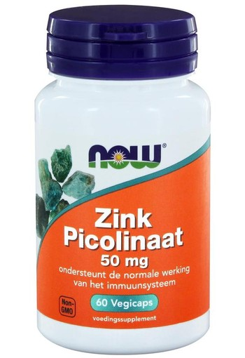 NOW Zink picolinaat 50 mg (60 vcaps)
