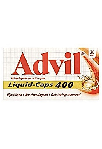 Advil Liquid Caps 400 20ca