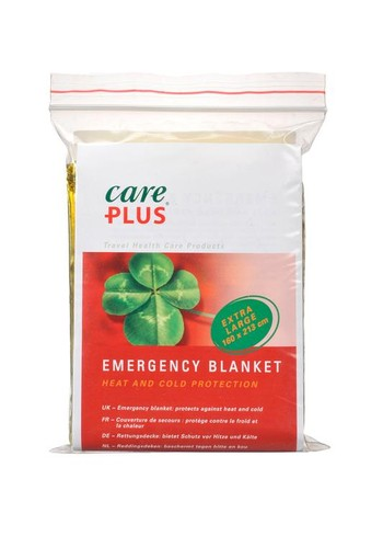 Care Plus Emergency blanket gold/silver (1 stuks)