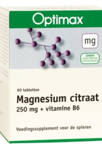 Optimax Magnesium Citraat + Vitamine B6 (60tb)