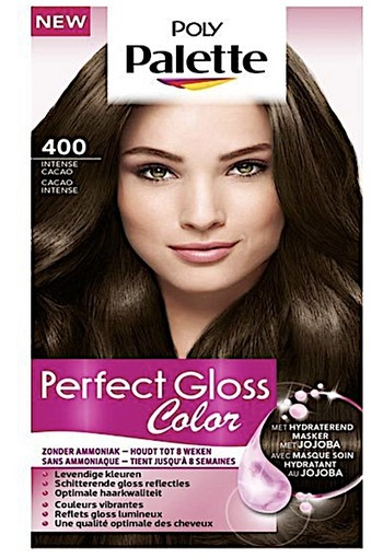 Schwarzkopf Poly Palette Perfect Gloss 400 Intense Cacao Haarkleuring
