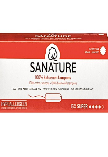 SANATURE 100% KATOENEN TAMPONS SUPER