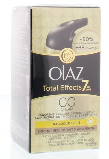 Olaz Total effects CC cream light tot medium (50 ml)