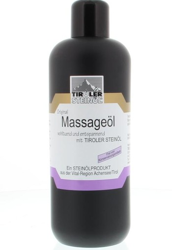 Tiroler Steinoel Massage olie consument (500 ml)