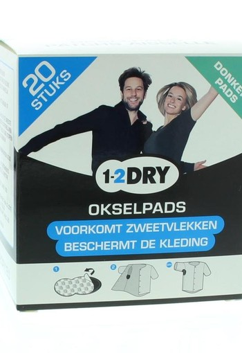 1-2DRY Okselpads medium dark (20 stuks)