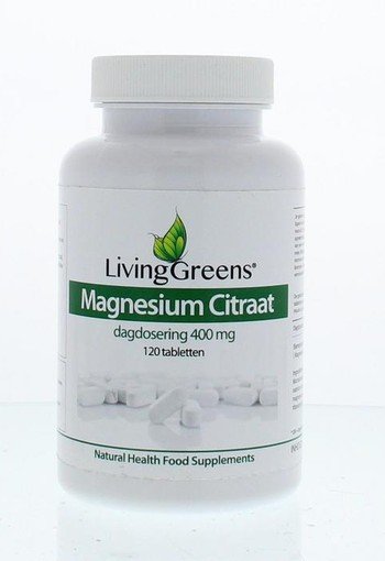 Livinggreens Magnesium citraat 400 mg (120 tabletten)
