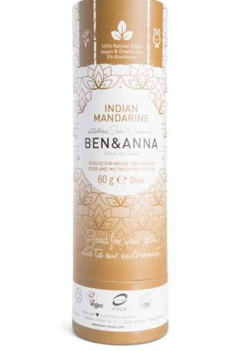 Ben & Anna Deodorant Indian mandarin push up (60 gram)