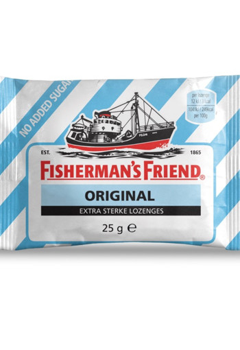 Fishermansfriend Original Extra Sterk Suikervrij 25g