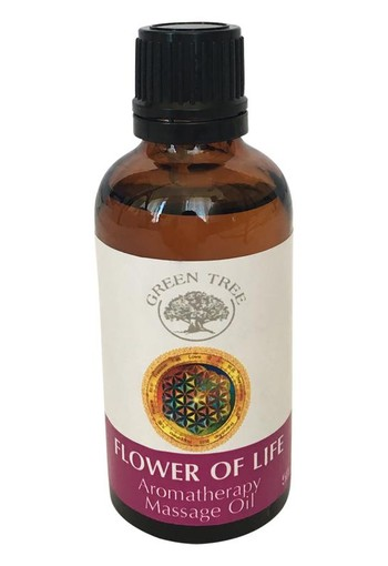 Green Tree Massage olie flower of life (50 ml)