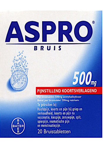 As­pro Bruis­ta­blet­ten 500 mg 20 stuks