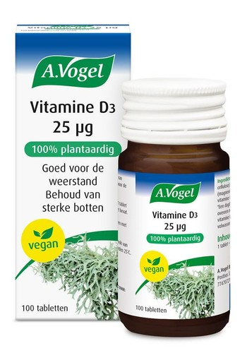 A Vogel Vitamine D3 25ug (100 tabletten)