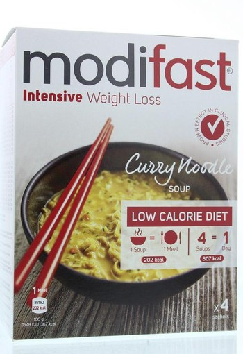 Modifast Intensive soep curry noodles (220 gram)