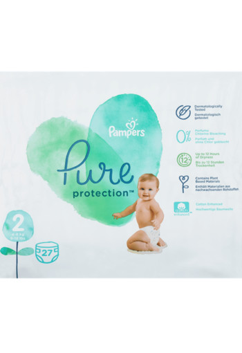 Pampers Pure Protection Maat 2 / 27 stuks