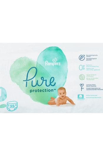 Pampers Pure Protection Maat 1 / 35 stuks
