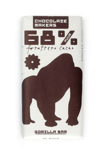 Chocolate Makers Gorilla bar 68% puur (90 gram)