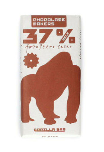 Chocolate Makers Gorilla bar 37% melk (90 gram)