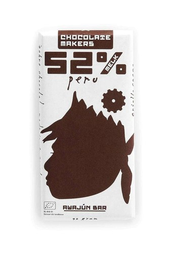 Chocolate Makers Awajun bar 52% melk (90 gram)