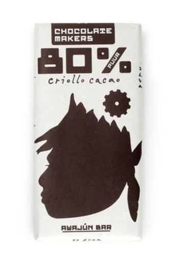 Chocolate Makers Awajun bar 80% puur (90 gram)