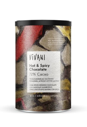 Vivani Hot & Spicy chocolate drink 72% (280 gram)