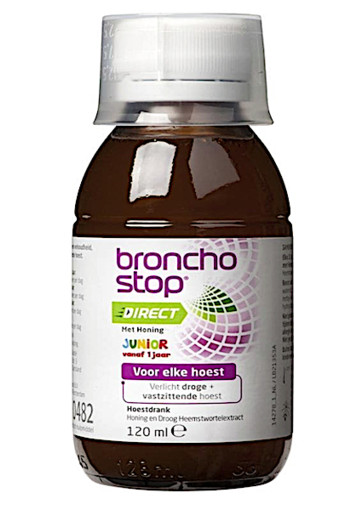 Bronchostop Direct met Honing Junior 120 ml