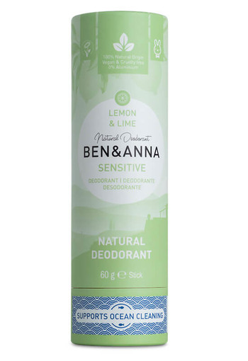 Ben & Anna Deodorant lemon & lime sensitive (60 gram)