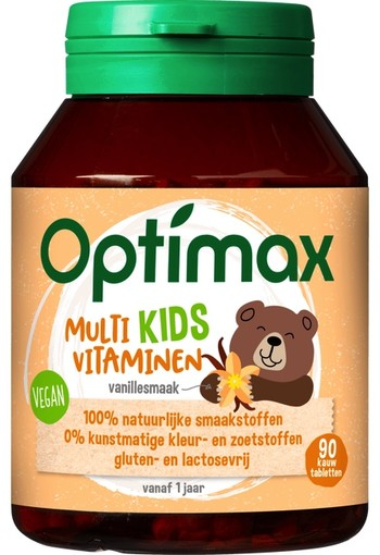 Optimax Multi Kids Vitaminen Vanillesmaak 90 stuks