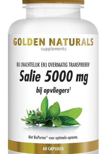 Golden Naturals Salie 5000 mg (60 capsules)