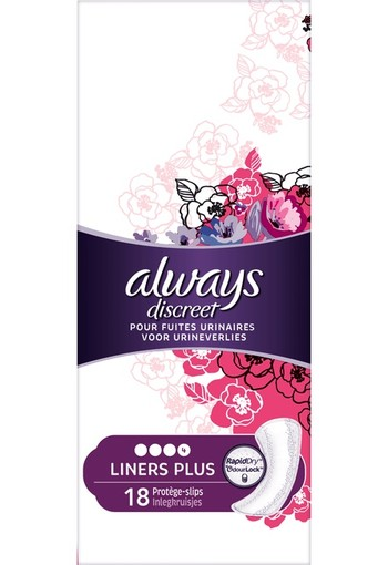 Always Discreet Inlegkruisjes Voor Urineverlies long Plus 18 st